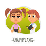 Anaphylaxis medical concept. Vector illustration. Royalty Free Stock Photos