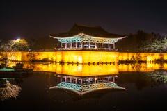 Anapje-Teich - Cheongju Korea HDR Stockfotografie