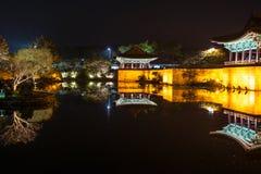 Anapjevijver - Cheongju Korea HDR royalty-vrije stock afbeeldingen