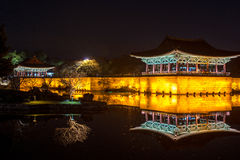 Anapjevijver - Cheongju Korea HDR stock fotografie