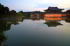 Anapji Pond. In Gyeongju, South Korea Royalty Free Stock Image