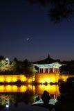 Anapji Pond, Gyeongju, Korea. Anapji pond in the evening in Gyeongju, Korea Stock Photos