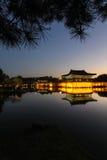 Anapji Pond, Gyeongju, Korea - Series 2. Anapji pond in the evening in Gyeongju, Korea Stock Photos