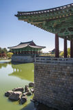 Anapji Pond in Gyeongju, South Korea. Stock Images