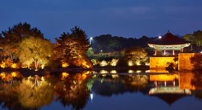 Anapji pond. Is a historical place in Gyeongju, Korea Stock Photo