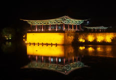 Anapji pond at night, Gyeongju, South Korea Stock Images