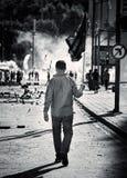 Anarchia e caos sulla via Fotografia Stock Libera da Diritti