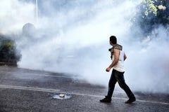 Anarchia e caos sulla via Immagini Stock Libere da Diritti
