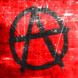 Anarchia znak z szorstkimi krawędziami Fotografia Royalty Free