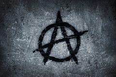 anarchii symbolu ściana Fotografia Royalty Free