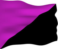 Anarchist Feminism Flag Royalty Free Stock Photo