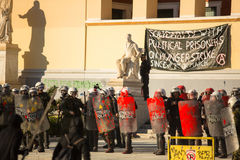 Anarchist protests in Athens, Greece Royalty Free Stock Images