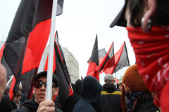 Anarchists demonstrations in Moscow. Royalty Free Stock Images