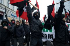 Anarchists Marching Stock Image