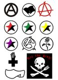 Anarchy. Vector illustration of an anarchy sign Royalty Free Stock Image