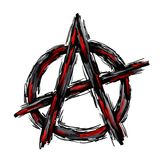 Anarchy. Painted anarchy symbol on white background vector illustration