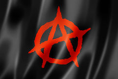 Anarchy flag. Three dimensional render, textured stock illustration