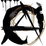 Anarchy, grunge. Jpeg and vector picture with anarchy black symbol vector illustration