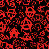 Anarchy. Seamless pattern with signs of anarchy Stock Images