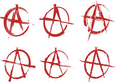Anarchy set. On a white background Stock Image
