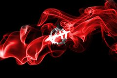 Anarchy smoke flag. Isolated on a black background Stock Image