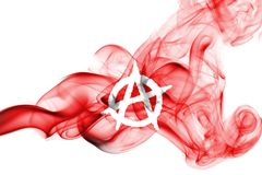 Anarchy smoke flag. Isolated on a white background Stock Images