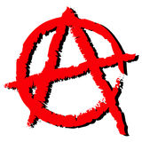 Anarchy symbol. Vector illustration of red anarchy symbol Royalty Free Illustration