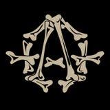 Anarchy symbol. Is made of bones vector illustration