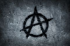 Anarchy symbol on wall Royalty Free Stock Photography