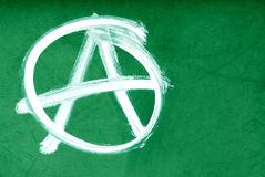 Anarchy symbol on wall Royalty Free Stock Photos