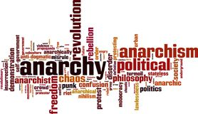 Anarchy word cloud. Concept. Vector illustration royalty free illustration