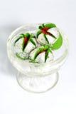 Anarkali dulce indio delicioso en un bol de vidrio Imágenes de archivo libres de regalías