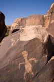 anasazi峡谷刻在岩石上的文字 图库摄影