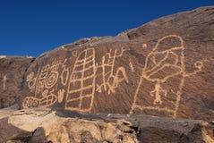 Anasazi里奇刻在岩石上的文字 库存图片