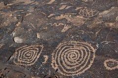 Anasazi里奇刻在岩石上的文字 免版税图库摄影