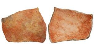 Anasazi clay pottery shard stock images