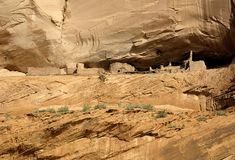 Anasazi Cliff Dwellings Royalty Free Stock Images