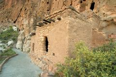 Anasazi cliff dwellings. Anasazi ruins in New Mexico near Los Alamos Stock Images