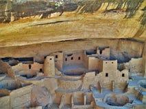 Anasazi fördärvar på Mesa Verde National Park Arkivbild
