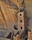 Anasazi fördärvar på Mesa Verde National Park Arkivfoton