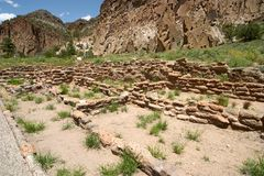 Anasazi ruins. In New Mexico near Los Alamos Stock Image