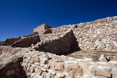 Anasazi Ruins at Tuzigoot National Monument Stock Photos