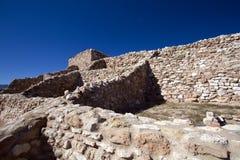 Anasazi Ruins at Tuzigoot National Monument. Precolumbian Native Americans built the hilltop village now preserved in Tuzigoot National Monument in northeastern Stock Photos