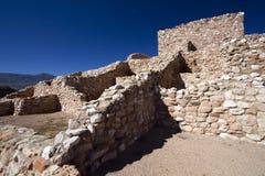 Anasazi Ruins at Tuzigoot National Monument. Precolumbian Native Americans built the hilltop village now preserved in Tuzigoot National Monument in northeastern Stock Images
