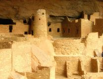 Anasazi's ruins from mesa verde national park. Ancient buildings of a lost world Stock Photos