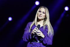 Anastacia. Singer and pop star Anastacia in concert at the Schleyer Hall in Stuttgart. AIDA Night oft he Proms. at 18:12:12 Stock Image