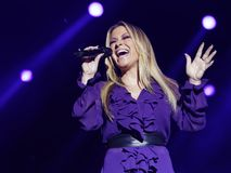 Anastacia. Singer and pop star Anastacia in concert at the Schleyer Hall in Stuttgart. AIDA Night oft he Proms. at 18:12:12 Royalty Free Stock Image