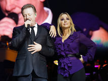 Anastacia & John Miles. Singer Anastacia & John Miles in concert at the Schleyer Hall in Stuttgart. AIDA Night oft he Proms. at 18:12:12 Royalty Free Stock Photo