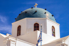 Anastasi church in Imerovigli village, Santorini Royalty Free Stock Photo