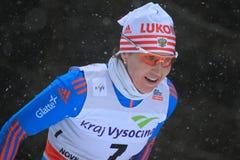 Anastasia Dotsenko - sci di fondo Immagine Stock